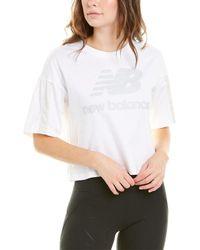 New Balance Short Sleeve Top - White