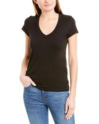 James Perse V-neck T-shirt - Black