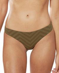 Red Carter Hipster Bikini Bottom - Green