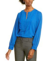 Karl Lagerfeld Lace-trim Blouse - Blue