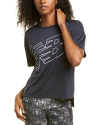 New Balance Archive Graphic Top - Black