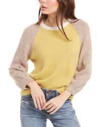 Velvet By Graham & Spencer Angie Alpaca-blend Jumper - Yellow