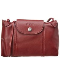 Longchamp - Le Pliage Cuir Leather Crossbody - Lyst