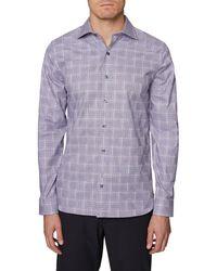 Hickey Freeman Woven Shirt - Purple
