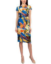 Aerin Silk-blend Dress - Blue