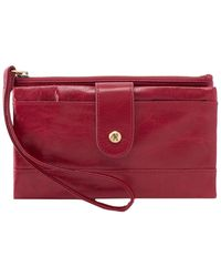 Hobo Spry Leather Wristlet - Red