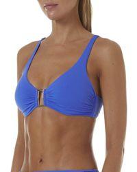Melissa Odabash Bel Air Off-the-shoulder Bikini Top - Blue