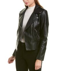 French Connection Quilted Biker Jacket - Black