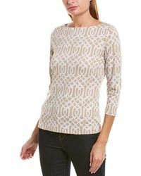 J.McLaughlin Catalina Cloth Top - Natural