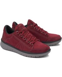 Allrounder By Mephisto Ladiva Leather Sneaker - Red