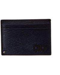Ferragamo Leather Card Holder - Blue