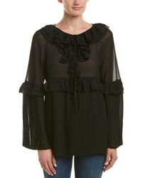 Romeo and Juliet Couture Pleated Top - Black