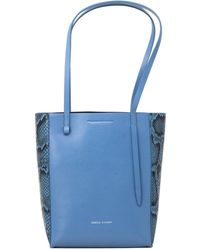 Rebecca Minkoff Stella Small Leather North/south Tote - Blue