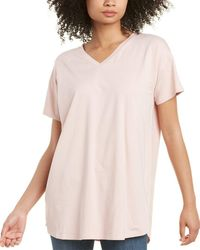 Eileen Fisher Petite V-neck Tunic - Pink