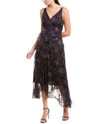 Jason Wu Winter Floral Silk-blend Maxi Dress - Purple