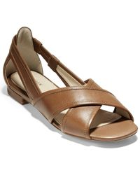Cole Haan Mc Lewis Leather Flat - Brown