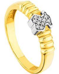 Tous Bear 18k Two-tone Diamond Ring - Metallic