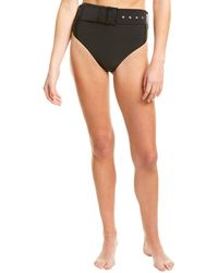Andrea Iyamah Kanem Black High-waist Bikini Bottom