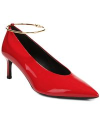 Via Spiga Bailey Leather Pump - Red