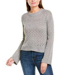 INHABIT Pointelle Linen-blend Sweater - Gray