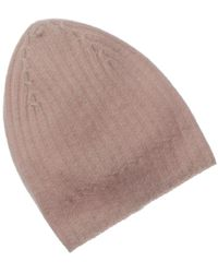 White + Warren White And Warren Cashmere Ribbed Hat - Multicolor