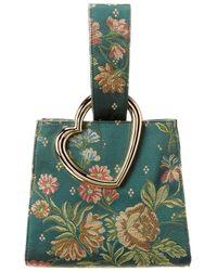 Edie Parker Heart Wristlet Bag - Green