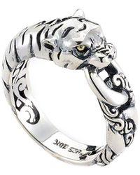 Samuel B. 18k Over Silver Panther Ring - Metallic