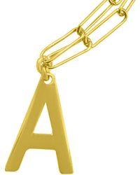 Adornia 14k Over Silver Initial Necklace - Multicolour