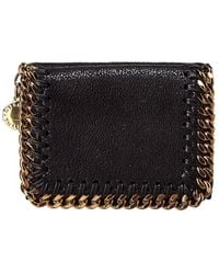 Stella McCartney Falabella Mini French Wallet - Black