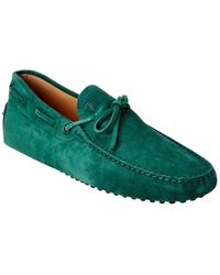 Tod's Gommino Suede Loafer - Green
