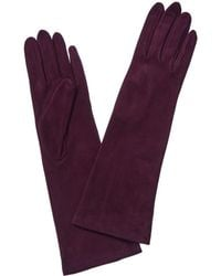 Portolano Suede Aubergine Gloves - Purple