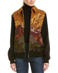 Stella McCartney Embroidered Silk-lined Jacket - Black