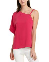 Trina Turk One-shoulder Evening Top - Pink