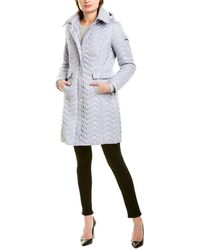 Via Spiga Zig Zag Walker Coat - Blue