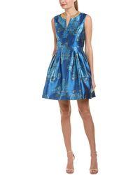 Belle By Badgley Mischka A-line Dress - Blue
