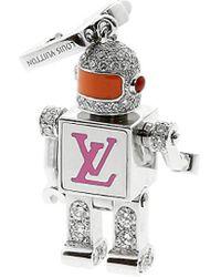 Louis Vuitton Louis Vuitton 18k 1.35 Ct. Tw. Diamond Spaceman Charm - Multicolor