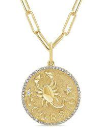 Sabrina Designs 14k 0.21 Ct. Tw. Diamond Zodiac Scorpio Necklace - Metallic