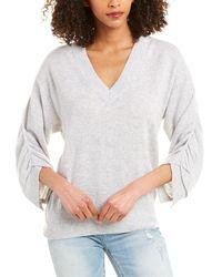 Brochu Walker Danya Cashmere Pullover - Grey