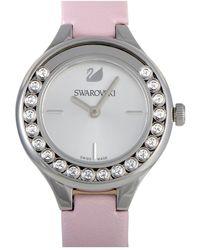 Swarovski Leather Watch - Metallic