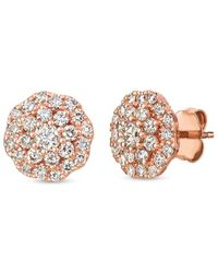 Le Vian ? 14k Strawberry Gold? 1.01 Ct. Tw. Diamond Earrings - Metallic
