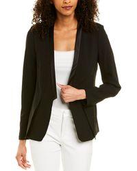 Halston Wool-blend Blazer - Black