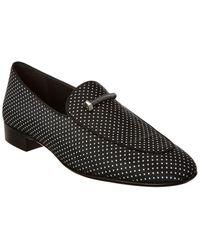 Giuseppe Zanotti Bolt Diamond Pattern Loafer - Black