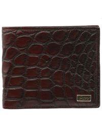 Brioni - Crocodile Leather Bifold Wallet - Lyst