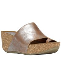 Donald J Pliner Ginie2 Leather Wedge Sandal - Metallic
