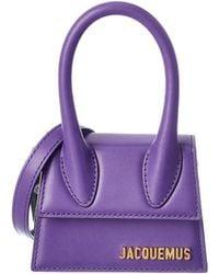 Jacquemus Le Chiquito Mini Leather Clutch - Purple