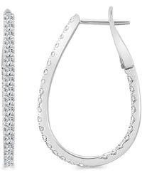 Sabrina Designs - 14k Diamond Inside Out Hoops - Lyst