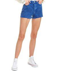 Rag & Bone Women's Maya High-rise Shorts - Blue