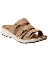 Clarks Unstructured Un Adorn Lane Suede Sandal - Brown