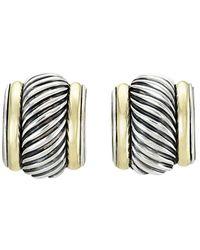 David Yurman - David Yurman 14k & Silver Cable Earrings - Lyst