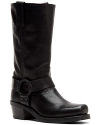 Frye Harness 12r Leather Boot - Black